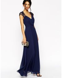 ASOS - Blue Tall Kate Lace Maxi Dress - Lyst