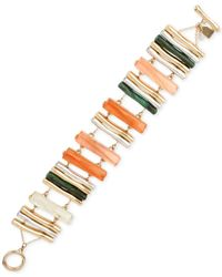 Robert Lee Morris - Multicolor Two-Tone Geometric Stick Toggle Bracelet - Lyst