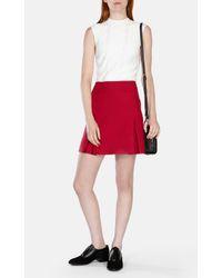 Karen Millen   Pink Wool Mini Skirt   Lyst