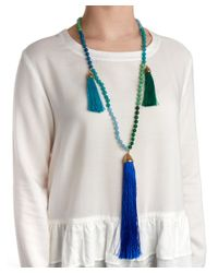 Rosantica | Blue Teatro Tassle Necklace | Lyst