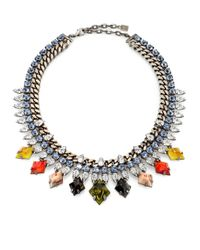 DANNIJO | Multicolor Cayden Crystal Necklace | Lyst