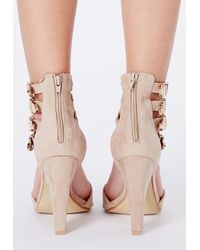 Missguided - Natural Hannah Taupe Multi Buckle Sandal - Lyst