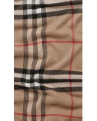 Burberry - Natural Giant Check Cashmere Scarf for Men - Lyst