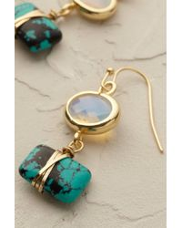 Anthropologie | Green Sayuri Drop Earrings | Lyst