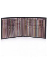Paul Smith - Black Signature Stripe Billfold Wallet for Men - Lyst