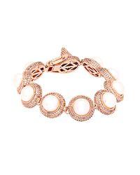 Eddie Borgo | Pink Pavé And Pearl Dome Bracelet | Lyst