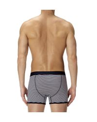 Sunspel - Blue Stripe Low Waist Egyptian Cotton Trunks for Men - Lyst