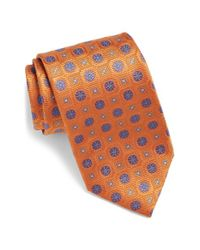 David Donahue - Blue Medallion Silk Tie for Men - Lyst