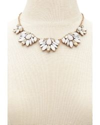 Forever 21 - Metallic Floral Statement Necklace - Lyst