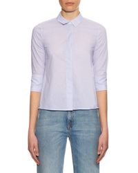 Equipment - Blue Esme Pinstriped Shirt - Lyst