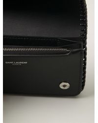 Saint Laurent | Black Chain Wallet | Lyst