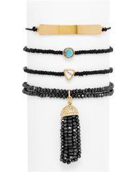 BaubleBar - Black Onyx Bracelet Quad - Lyst