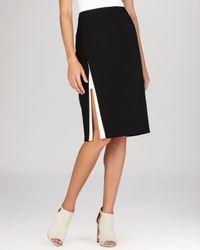 BCBGMAXAZRIA - Black Pencil Skirt - Grayce Contrast Trim - Lyst