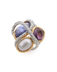 Alexis Bittar - Multicolor Multi Stone Encrusted Vine Ring - Lyst