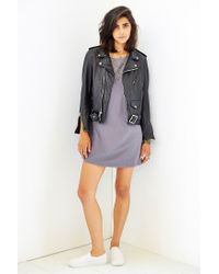 Truly Madly Deeply - Gray Open-Back T-Shirt Dress - Lyst
