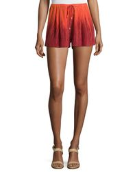 Haute Hippie - Red Summer Ombre Shorts - Lyst