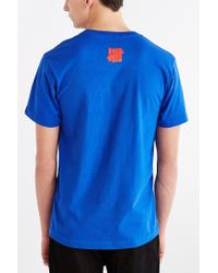 Undefeated - Blue Detroit Bad Boys Tee for Men - Lyst