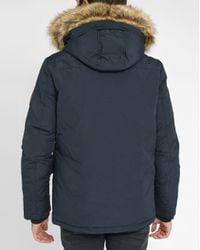 Tommy Hilfiger | Blue Houston Parka With Removable Fur for Men | Lyst
