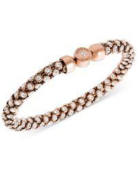 Michael Kors | Pink Gold-tone Mesh Bracelet | Lyst