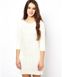 Darling | White Knitted Dress | Lyst