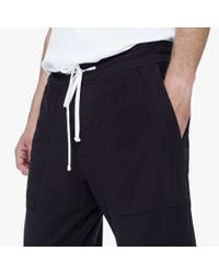 James Perse - Black Knit Twill Sweatpant for Men - Lyst