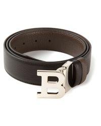 Bally - Black B Buckle Belt for Men - Lyst