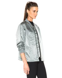 Acne Studios - Gray Fuel Tech Bomber - Lyst