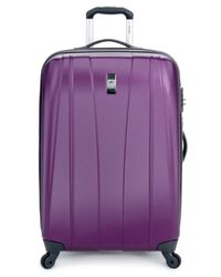 "Delsey | Purple Closeout! Helium Shadow 2.0 25"" Expandable Hardside Spinner Suitcase 