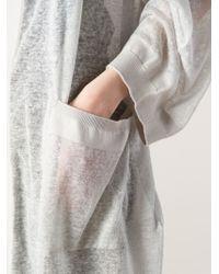 Il by Saori Komatsu | Gray Hooded Wrap Cardi-Coat | Lyst