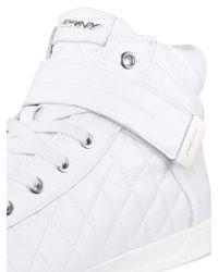 DKNY - White Betty Patent Sneaker - Lyst