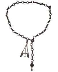 Brevard | Black Chain Link Necklace | Lyst
