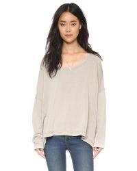 Free People | Brown Little Ann Solid Pullover - Light Tan | Lyst