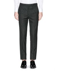 Givenchy - Black Pinstripe Wool Pants for Men - Lyst