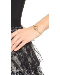 Tory Burch - Metallic Charm Evil Eye Bracelet - Lyst