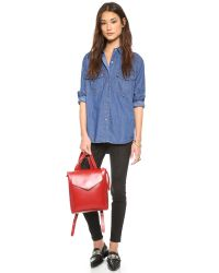 Loeffler Randall - Red Mini Backpack - Lavender - Lyst