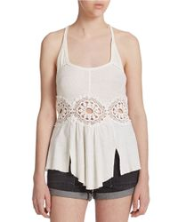 Free People | Natural Sundial Tank Top | Lyst