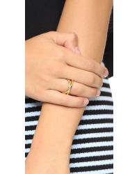 Elizabeth and James | Metallic Mila Ring - Gold Multi | Lyst