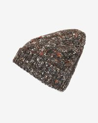 Exclusive For Intermix - Gray Flecked Yarn Knit Beanie - Lyst