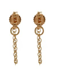 Melissa Joy Manning - Metallic Gold And Peridot Chain Stud Earrings - Lyst