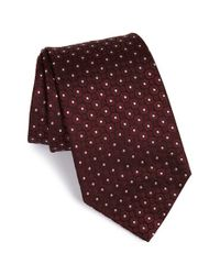 Armani | Red Dot Silk Tie for Men | Lyst