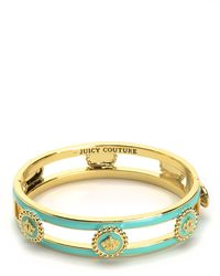 Juicy Couture | Green Status Coin Enamel Bangle | Lyst