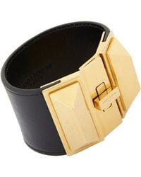 Saint Laurent | Black Clous Punk Pyramidaux Bracelet | Lyst