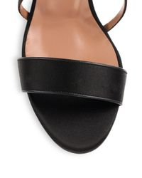 Tabitha Simmons - Black Jennifer Satin Sandals - Lyst