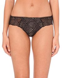 Chantelle | Black Illusion Stretch-lace Tanga Briefs | Lyst