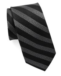 William Rast | Black Textured Striped Tie for Men | Lyst