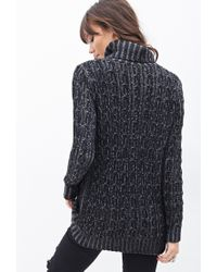 Forever 21   Black Knit Turtle Neck Sweater   Lyst