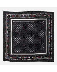 COACH | Multicolor Skulls Silk Foulard Square Scarf | Lyst