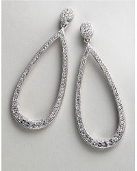 Nadri | Metallic Pave Teardrop Earrings | Lyst