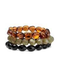 H&M - Orange 3pack Bracelets - Lyst