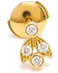 Yvonne Léon - Metallic 18Kt Gold 'Feuilletis Pampille' Stud Earring - Lyst